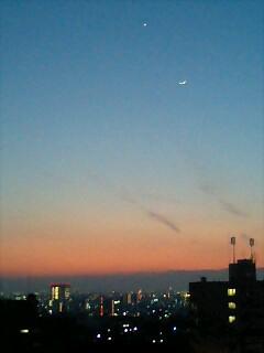 南山LSからみる名古屋港夕暮れ