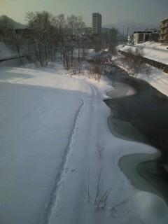 northland雪の琴似発寒川